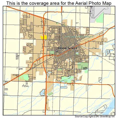 map of grand island aerial photography map of grand island ne nebraska