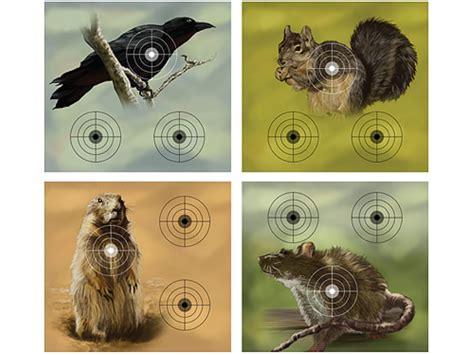 printable rat targets crosman varmint airgun target pack crow squirrel prairie