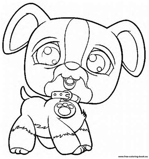 lps coloring pages dog littlest pet shop dogs free colouring pages