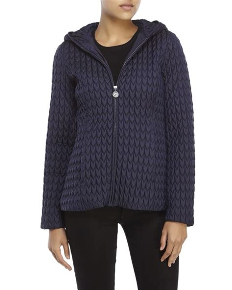 Hits Popcorn Sweater Navy klein navy popcorn quilted hooded jacket in blue lyst