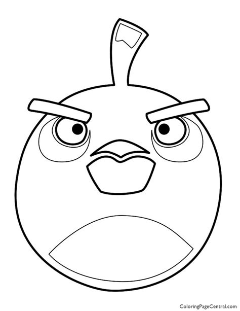angry birds black bird coloring page angry birds bomb the black bird 01 coloring page