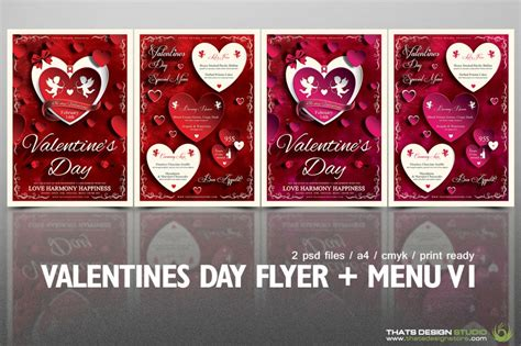 2 flyers psd valentine s day flyer menu v 1 psd