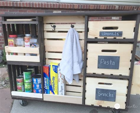 Food Pantries Island by Build Your Own Mobile Kitchen Island With Wooden Crate Storage Your Projects Obn