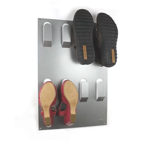 wall mount shoe storage unique wall mounted shoe rack by the metal house limited