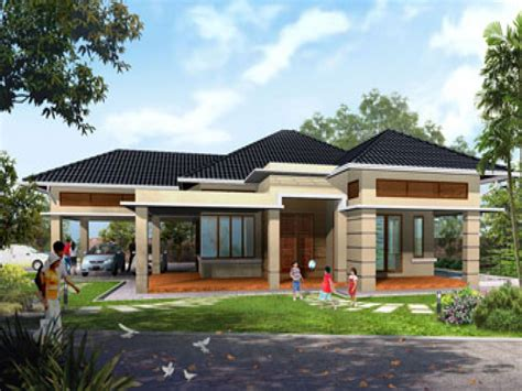 single story house designs rustic single story house