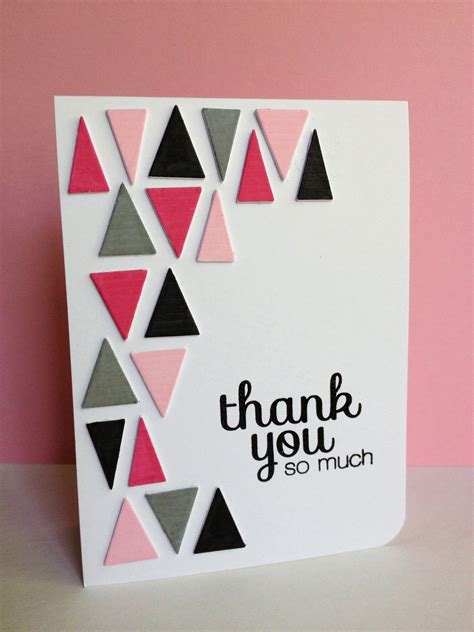 thank you card designs choose fun colors for the triangles on this handmade thank