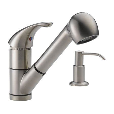 peerless pull kitchen faucet peerless choice p18550lf single handle pull out kitchen