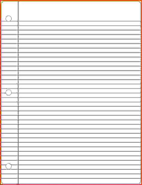 notebook paper template best resumes