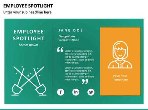 employee spotlight powerpoint template sketchbubble