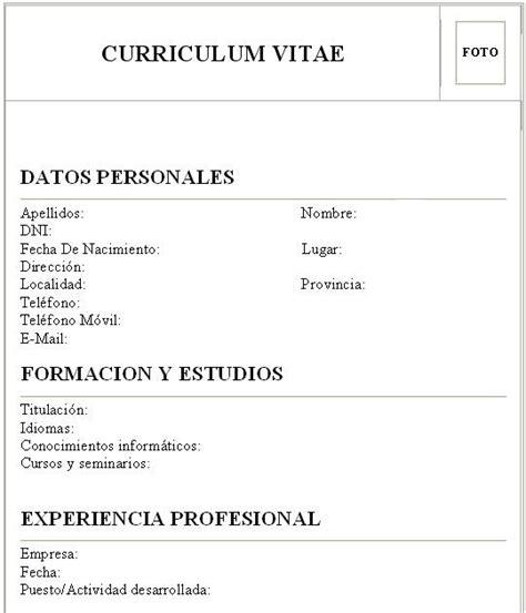 Plantillas De Curriculum Vitae Por Primera Vez Modelo De Curriculum Vitae Por Primera Vez Modelo De Curriculum Vitae