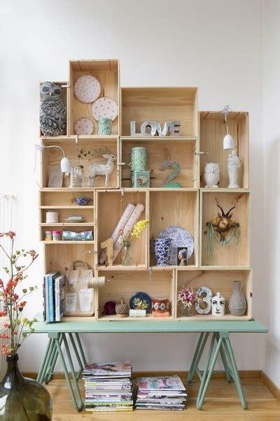 Chalk Paint Bookcase Handig Dit Wandrek Van Kisten Students Room Kot