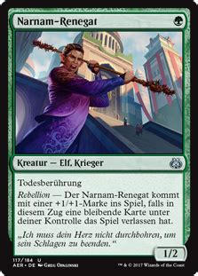 Magic The Gathering Aether Revolt Uncommon Narnam Renegade Narnam Renegat Aether Revolt Gatherer Magic The