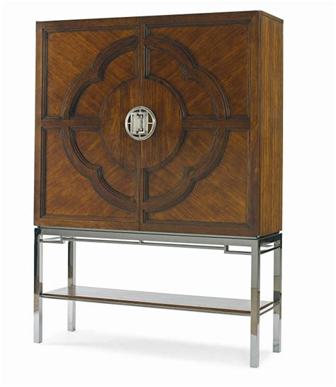 Lotus Bar Cabinet Century Furniture Print Item