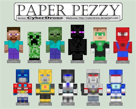 How To Make Paper In Mine Craft - paper crafts template minecraft skins