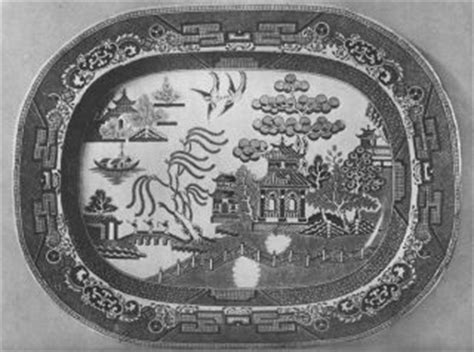 black and white willow pattern blue willow china history and lore