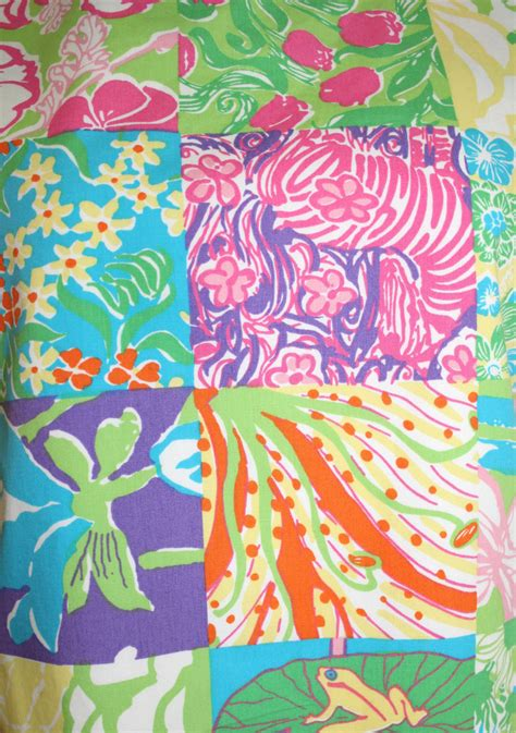 Lilly Pulitzer Patchwork - 1990 s lilly pulitzer patchwork shift dress by