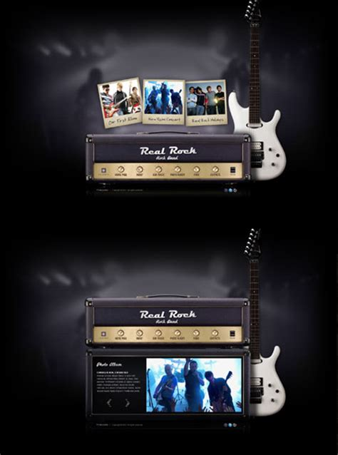 Real Rock Band Dynamic Video Gallery Flash Template Html5 Web Templates 300111323 Rock Band Web Template