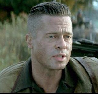 brad pitt s fury haircut a stylish undercut gallery brad pitt and hair on pinterest