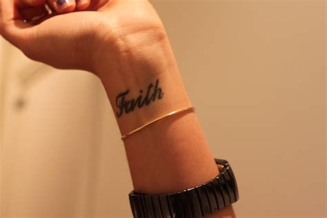 images of wrist tattoos faith for wrist