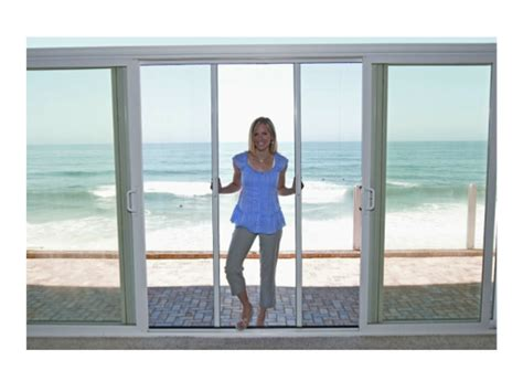 Sliding French Patio Doors With Screens by French Sliding Patio Doors Screenman Mobile Screening
