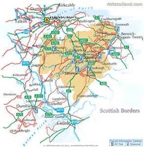 map of border map of scottish borders province area