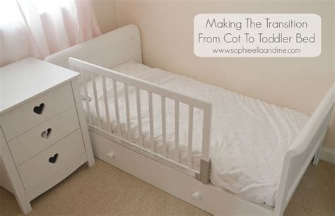 bed for one year old making the transition from cot to toddler bed sophie