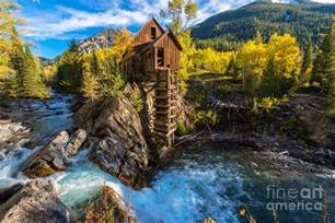 House Plans For Cabins autumn in crystal mill colorado landscape photograph by