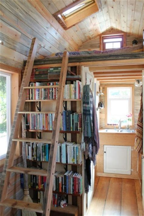 tiny library grad student s tiny house tour and on living tiny