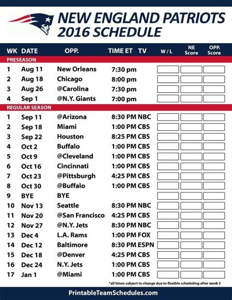 printable schedule for new england patriots printable patriots schedule 2015 freepsychiclovereadings com