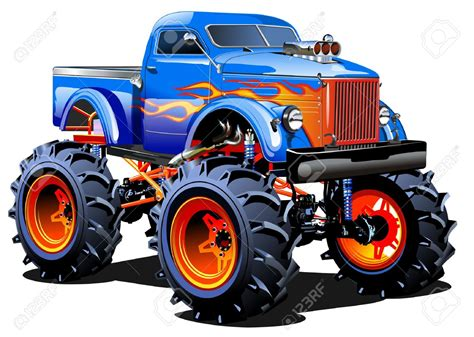 bigfoot monster truck cartoon wheels clipart 82