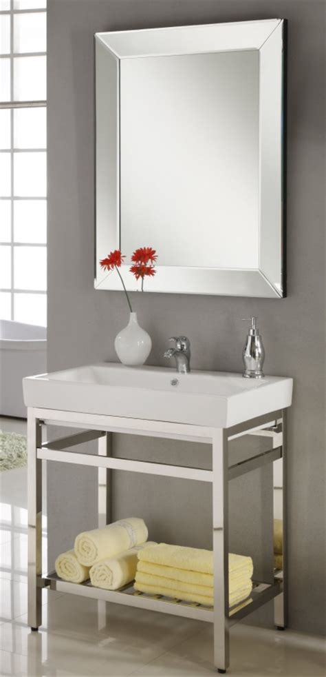 31 Inch Single Sink Console Bathroom Vanity with Choice of