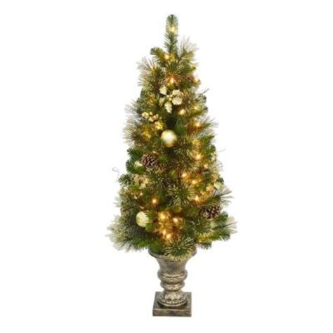 home accents holiday 4 ft golden holiday pre lit porch