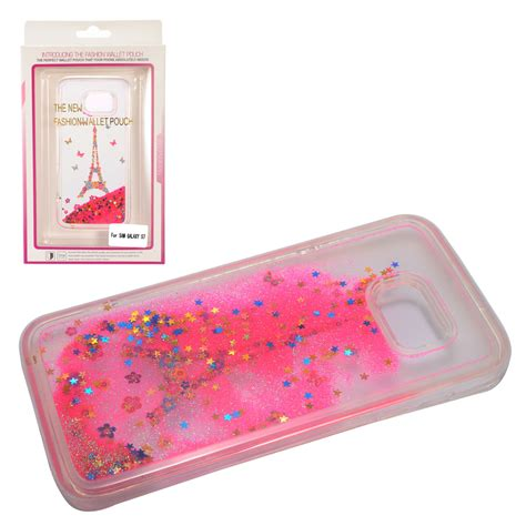 for samsung galaxy s7 liquid moving glitter water design cover
