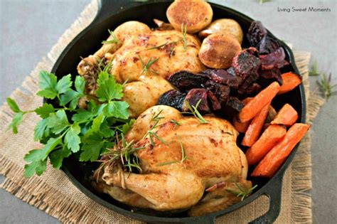 cornish hens with roasted veggies living sweet moments