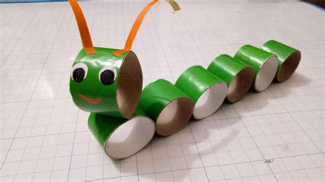 How To Make A Paper Worm - crafts caterpillar with paper roll diy for kid