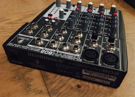 Mixer Xenyx 802 xenyx 802 behringer xenyx 802 audiofanzine