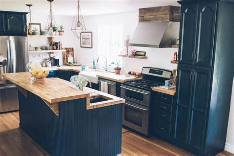 Painting Butcher Block Countertops by Our Kitchen Renovation Reveal Jess Kirby