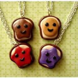 Kawaii toast 4 way best friends necklaces pumpkinpyeboutique