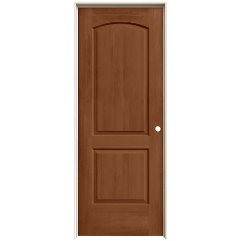jeld wen interior doors jeld wen 30 in x 80 in continental hazelnut stain left solid molded composite mdf