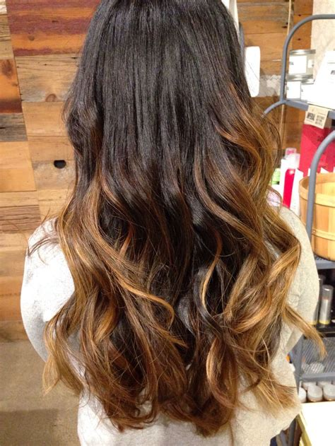 balayage ombre highlights on dark hair dark black hair ombre balayage hair pinterest