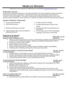 Ymca Volunteer Cover Letter by Ymca Volunteer Sle Resume