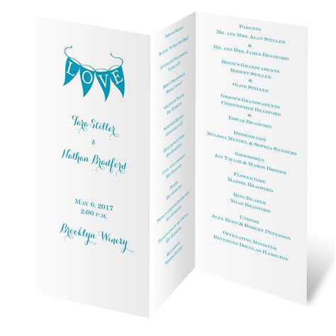Tri Fold Program Paper - white trifold program invitations by
