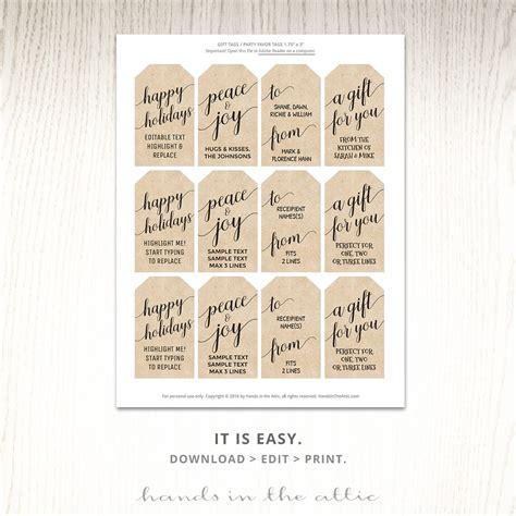 printable kraft card printable christmas gift tags kraft white hands in