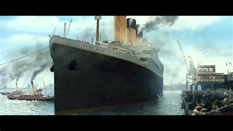 titanic boat scene gif titanic 3d the boat leaving the port official clip hd