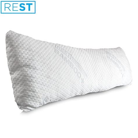 bed rest pillow removable cover rest home collections premium bamboo pillow made with eco
