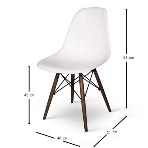 Chaise Inspiration Eames by Chaise Eames Dsw Inspiration Noyer Meubles Design