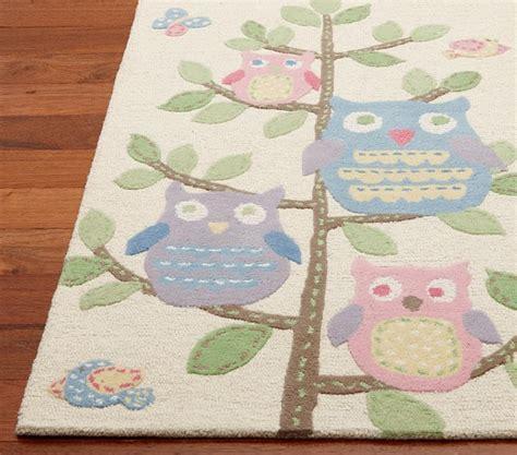 owl nursery rug hayley owls in tree rug 8 x 10 pottery barn