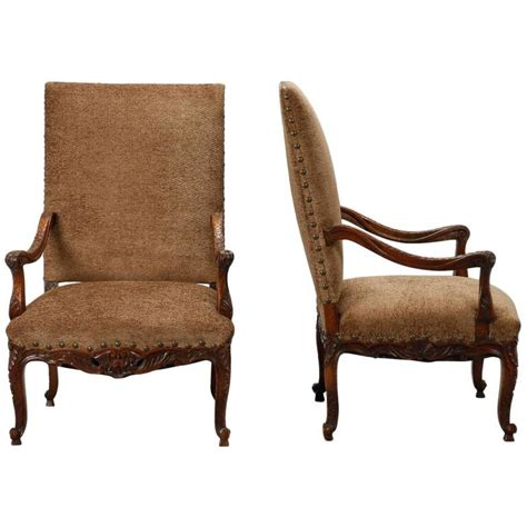 high back armchairs for sale pair of french carved frame high back armchairs for sale