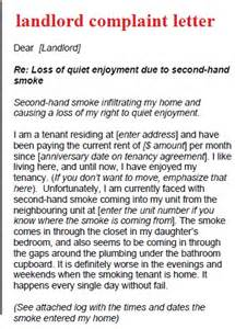 Complaint Letter To Landlord Template by Complaint Letter Template Landlord Complaint Letter