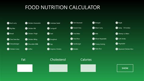 food calculator food nutrition calculator for windows 10 free on windows 10 app store